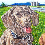doxie-painting-pthomasart-500