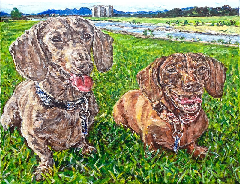 doxie-painting-pthomasart-800